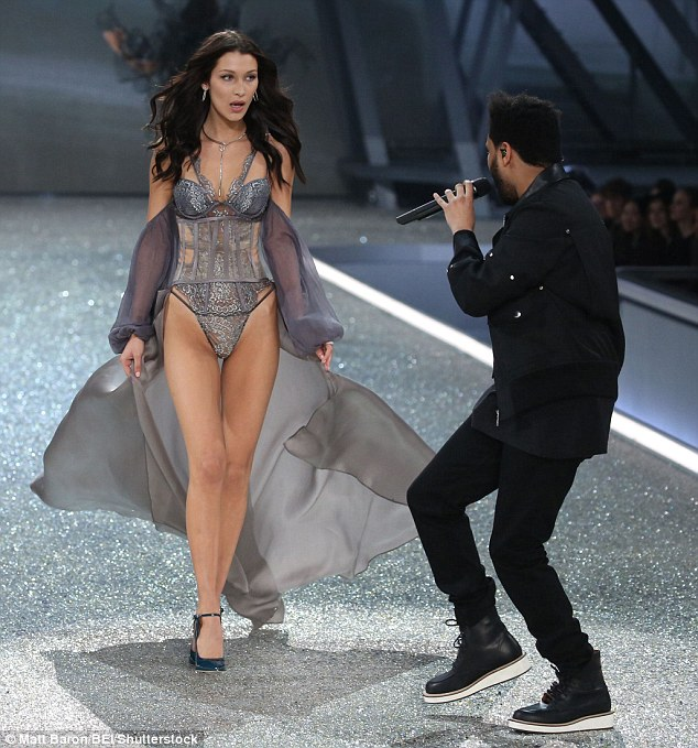 Did you know he was performing tonight? She did, however, look a tad shocked as she gazed at her former boyfriend