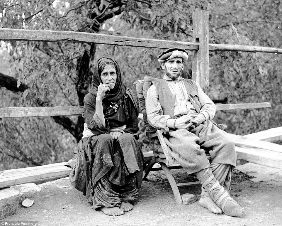 A man and a woman in Waigal in 1969. Pommery said that the people he met were happy to pose for photographs