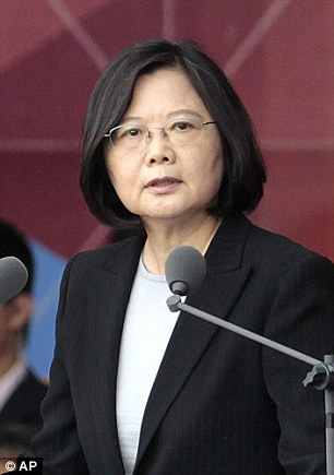Donald Trump strayed from diplomatic tradition on Friday with a phone call with the Taiwanese presidentTsai Ing-wen (right)