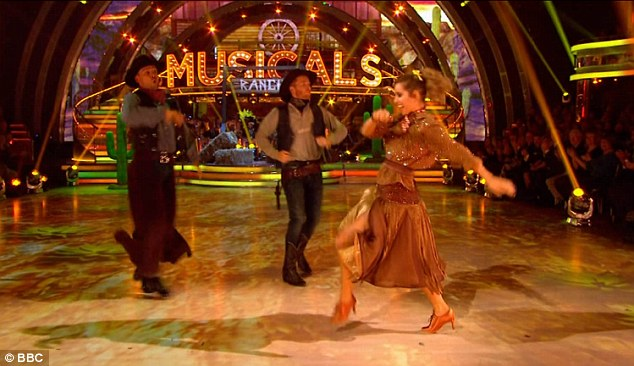 Strutting her stuff: Louise scored 37 out of 40 thanks to Bruno's 10