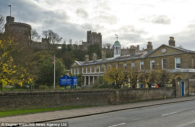 Latin teacher:Brailsford was acting headmaster of the £7,000-a-term St George's School, Windsor Castle (pictured) in Berkshire and was later a schoolmaster there
