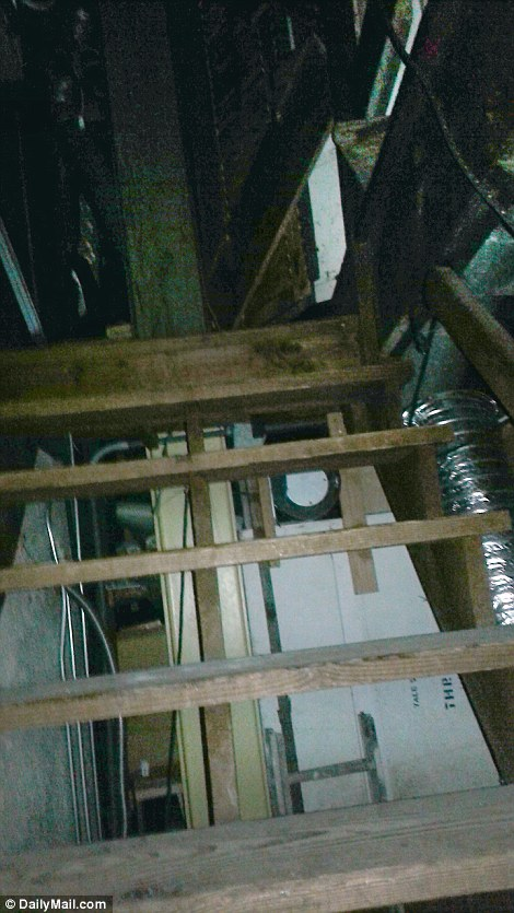 Trapped: These stairs and this passageway were part of the way into and out of the building