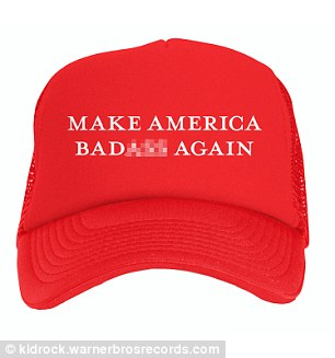 Also included is a modified version of Trump's infamous 'Make America Great Again' hat