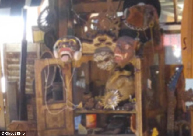 Travel: Almena appears to have used traditional masks from Indian theater to make this display. His ability to control others was part of life in the warehouse, one ex-tenant claims
