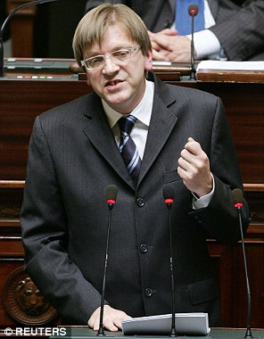 Guy Verhofstadt, pictured, the EU Parliament's Brexit negotiator, told a meeting yesterday that he would ensure associate citizenship status for Britons was 'on the table' in the upcoming talks