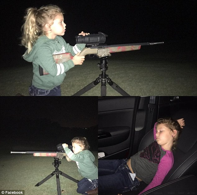 From the photos posted on her father's Facebook page, it seems that Noah has been learning to shoot for some time