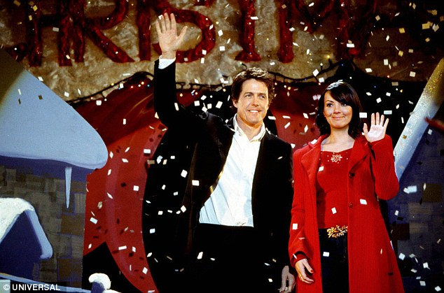 Funny: Lulu also claimed that Hugh Grant (pictured with Martine McCutcheon's character Natalie) said he hated children when he was introduced to her