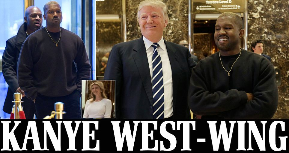 Kanye West and entourage arrive at Trump Tower but is he visiting Donald?