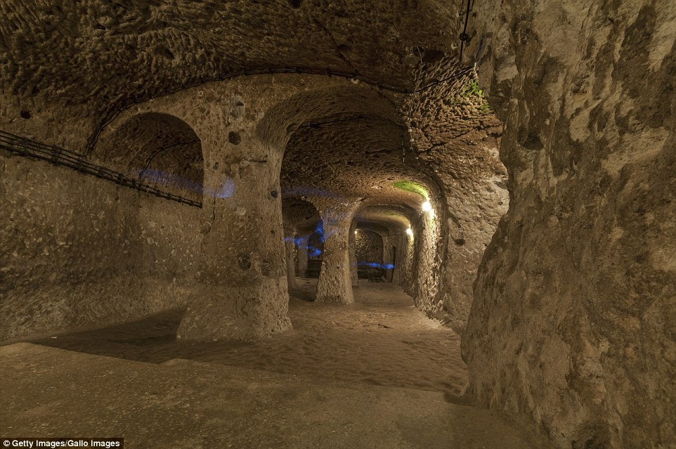 Subterranean tunnels in the city stretch miles and even connect Derinkuyu with other underground ancient cities nearby