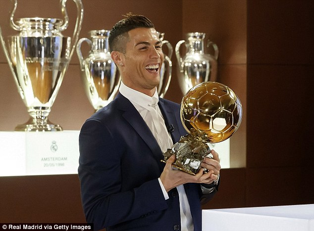Image result for Image C ronaldo and his ballon d