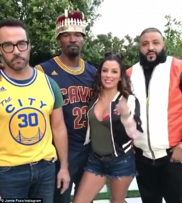 Action! The father-of-two cast the biracial beauty in his long-delayed directorial debut All-Star Weekend alongside (from L-R) Jeremy Piven, Eva Longoria, DJ Khaled (pictured in 2016)