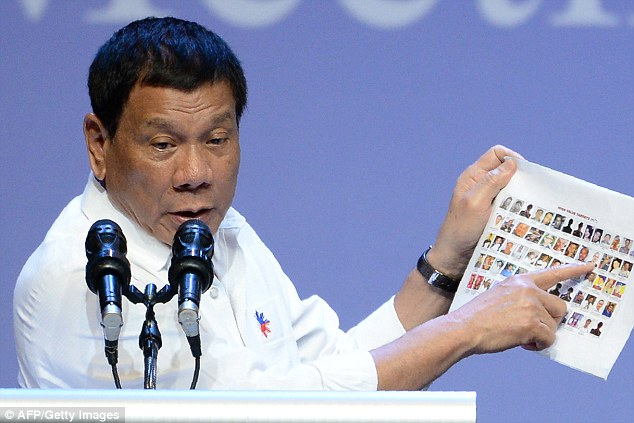Duterte said he doesn't need American money and can get it from China