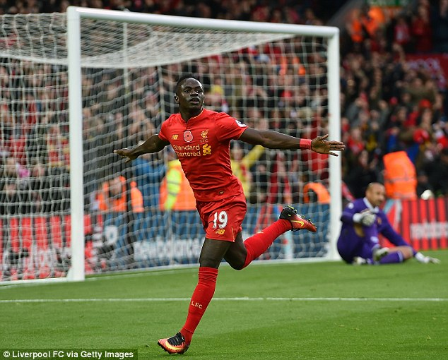 Mane has hit the ground running at Anfield by scoring seven goals in 17 games for Liverpool