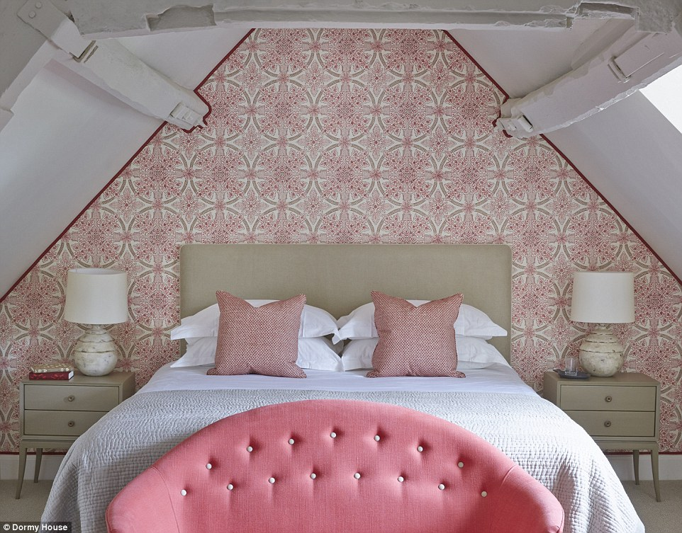 Personal space: The elegantly decorated Attic, pictured, is one of the largest of the seven suites on offer at Dormy House