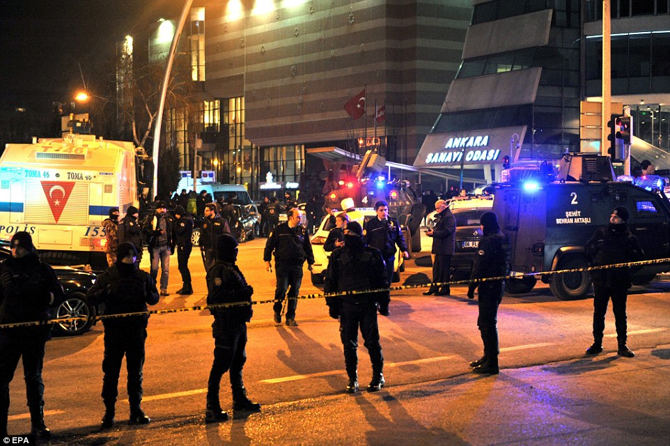 Dozens of police officers arrived at the scene in the wake of the shooting on Monday night