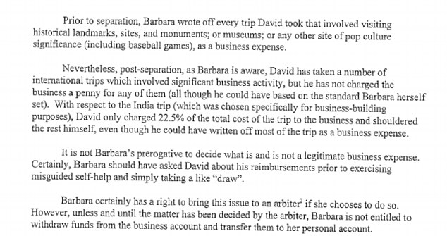 The arbiter needs an arbiter: How details of spending were described by Barbara Mikkelson's legal team