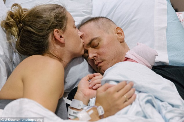 Lots of love: Atlanta couple Jenna and Josh Buehler are the subjects of a poignant photo series documenting Josh's fight against brain cancer