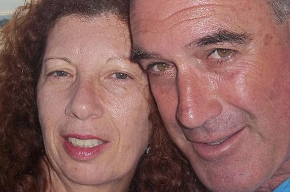 Dalia Elyakim, from Herzliya, Israel, was named as the first victim of the massacre. Her husband Rami, pictured with her, is fighting for his life
