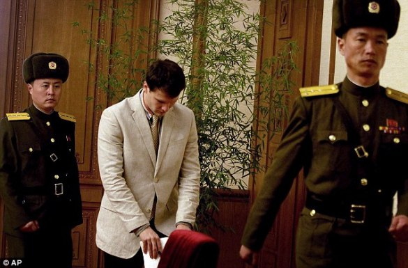 Image result for Otto Warmbier, 22, is on his way back to the United States after spending 17 months behind bars for pulling down a piece of propaganda in his hotel