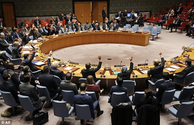 Unanimous: The Security Council vote passed Friday with a 14-0 vote. The US declined to veto it, breaking a long-held protection of its Middle East ally
