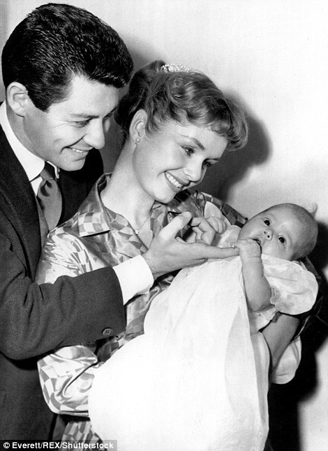 Fisher and Reynolds welcomed Carrie in 1956