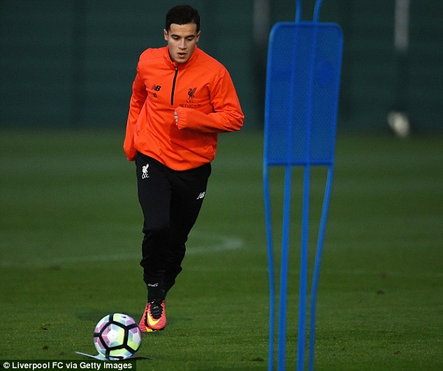 Coutinho is expected to miss the home clash against Manchester City and trip to Sunderland