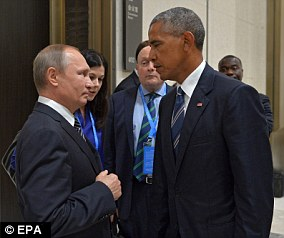 Showdown: Obama's statement is a strongly-worded attack on Putin