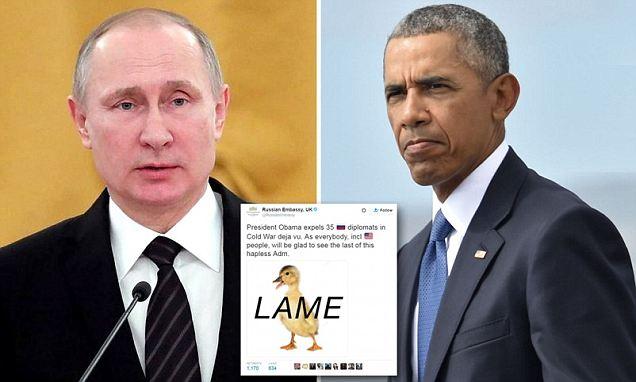 Vladimir Putin says he WON'T expel US diplomats in revenge for hacking sanctions