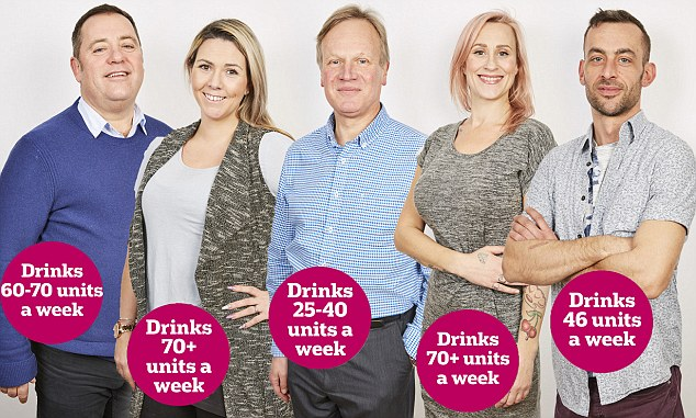 We asked five brave people who all drink over the official limit — most would be classed as heavy drinkers — to give up alcohol for a month