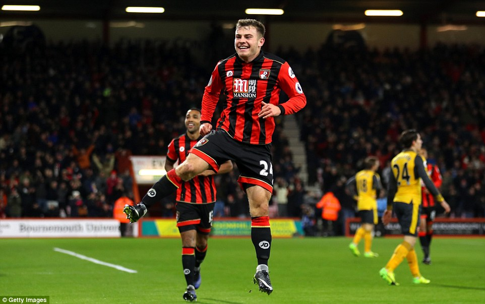 Arsenal went 3-0 down against Bournemouth in this Premier League clash at the Vitality Stadium after Fraser's goal