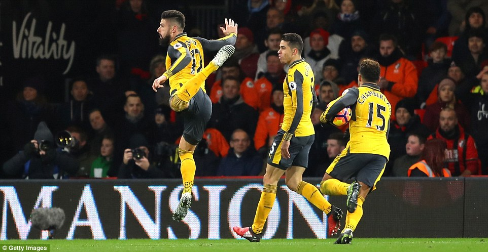 Arsenal's striker, who scored a sensational scorpion kick goal on New Year's Day, appeared to remind us in his celebration