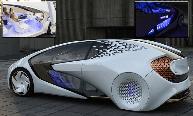 Toyota Unveils Driverless Concept I With Yui AI Assistant That Learns Preferences Daily Mail