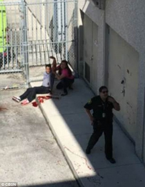 A picture shared on social media allegedly showed one of the people who was shot by a gunman