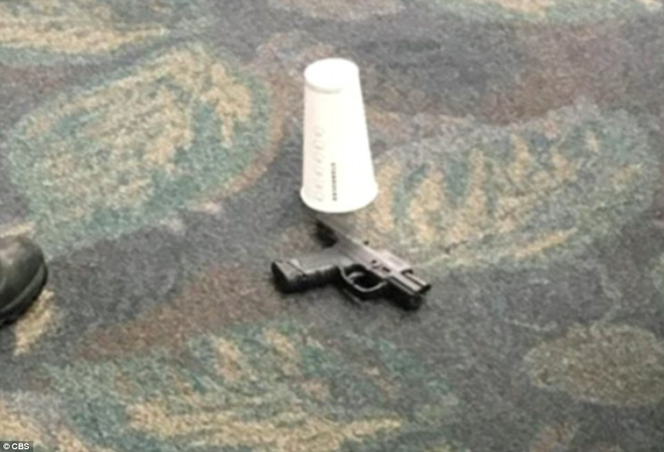 This picture shows what may be the weapon that was used by the gunman in the shooting on Friday