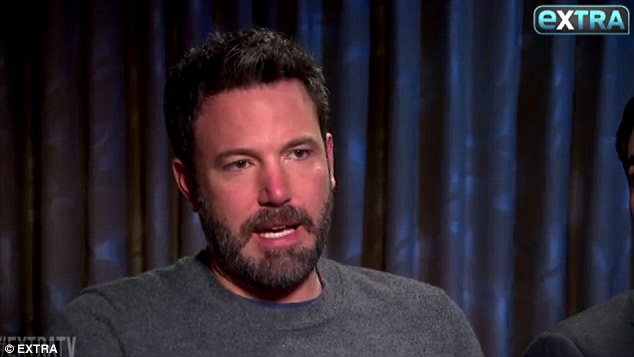 Not having it: Ben Affleck, 44, told Extra that he 'wouldn't allow' his kids to get into acting before they're 18, and would discourage them from doing it then