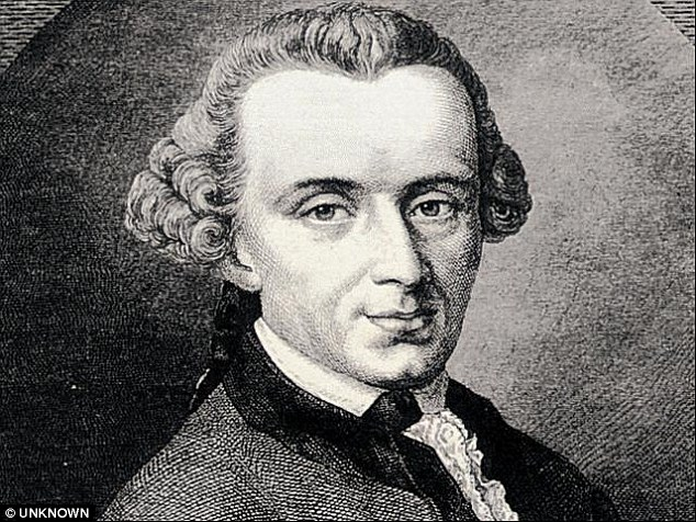 The works of Immanuel Kant, above, might not be on the list for students at SOAS after they demanded more works from African and Asian philosophers