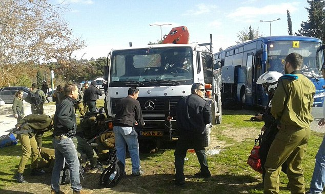 Four people have been killed and at least 15 were wounded after a truck attack in Jerusalem