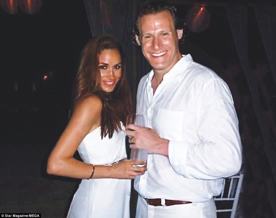 New photos have emerged of Prince Harry's girlfriend Meghan Markle during her wedding to former husband Trevor Engleson (pictured together) in Jamaica in 2011