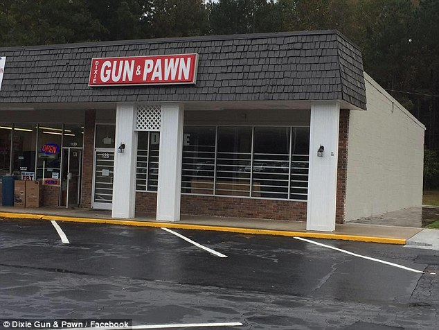 The incident took place at Dixie's Gun and Pawn in Mableton, Georgia, on December 26