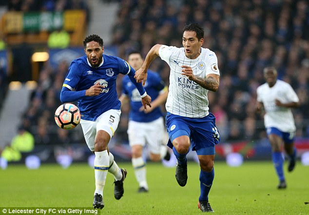 Leicester striker Leonardo Ulloa (right) has found first-team opportunities limited this season