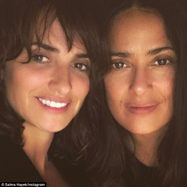'Good #friends are forever!' Spanish-speaking duo Penélope Cruz and Salma Hayek celebrated their long-standing friendship on Tuesday by posing for selfies together