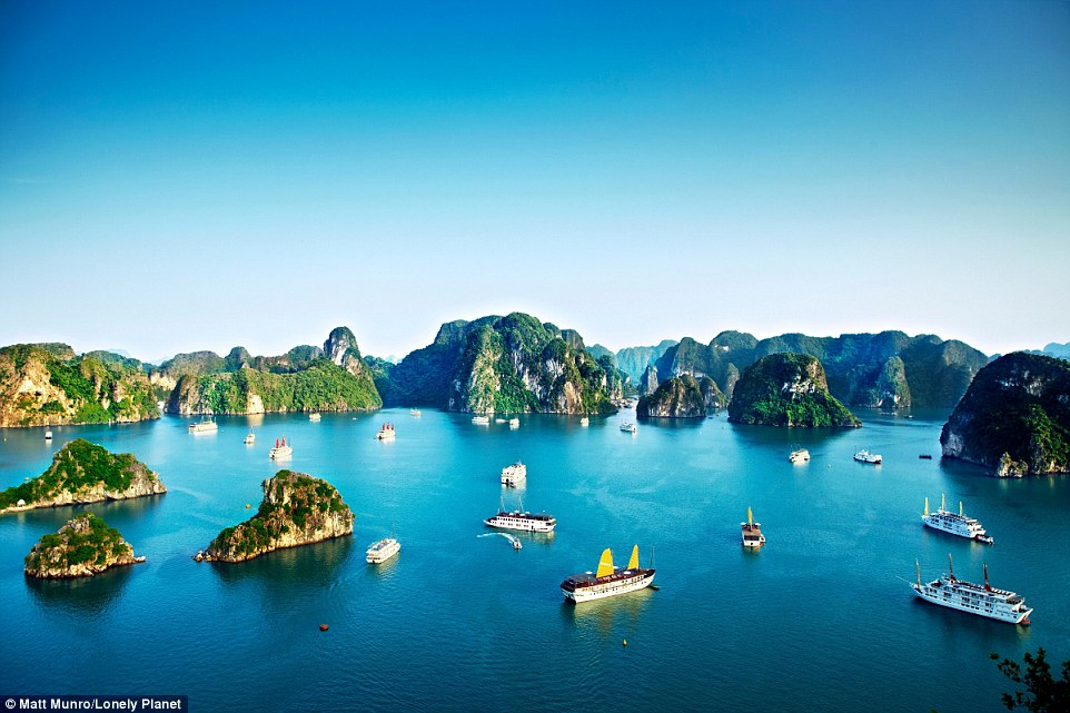With Vietnam experiencing monsoon seasons in both the winter and the summer, October has the perfect conditions for a stunning escape to highlights such as Halong Bay (pictured)