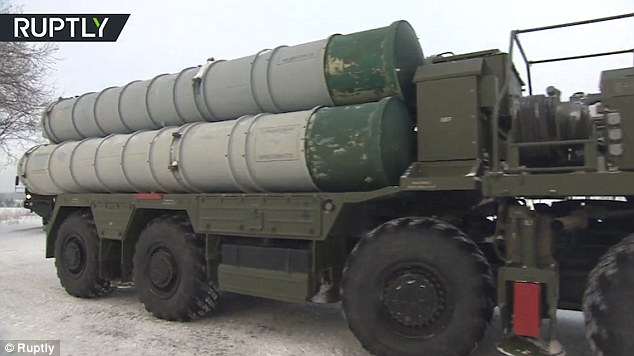 A truck carrying what is understood to be the air defence system near Moscow