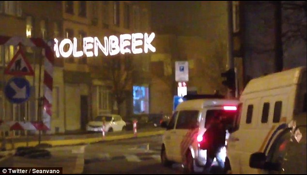 Large areas have been cordoned off in the Molenbeek district of Brussels, which is known for being rife with ISIS sympathisers and is not far from the EU headquarters