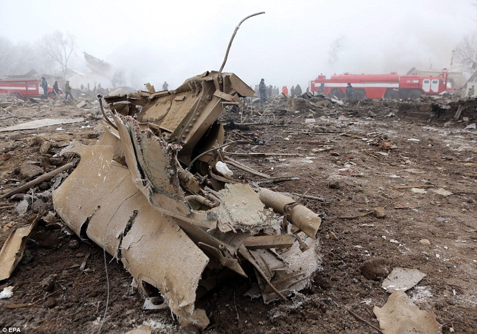 Around 43 houses were damaged by the crash, according to the emergency services ministry, but others put the number at 60