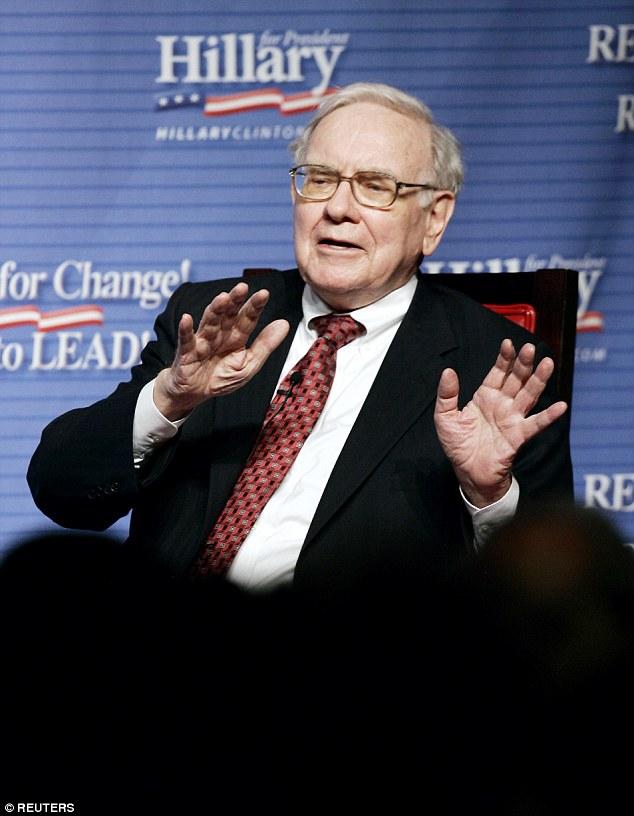 Legendary US investor Warren Buffet is third with £49.9billion ($60.2bn)