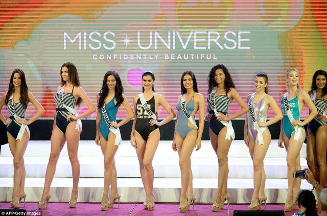 The 86 contestants competing for the title of Miss Universe took part in a swimsuit presentation in the run up to event in the Philippines at the end of January