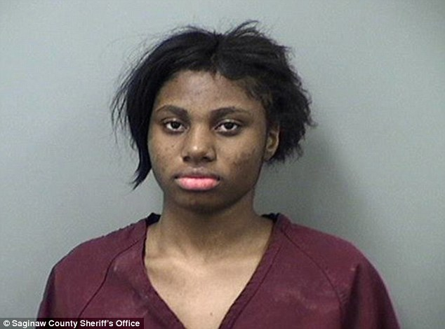 Rape suspect: Lestina Marie Smith, 17, of Michigan, is facing felony charges for allegedly forcing a 19-year-old man to have sex with her at knifepoint