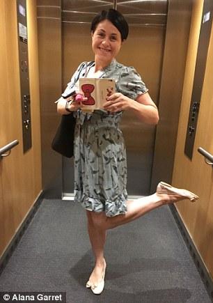 Feeling fine! Alana Garret, 32, lost more than 50 kilograms after having gastric sleeve surgery