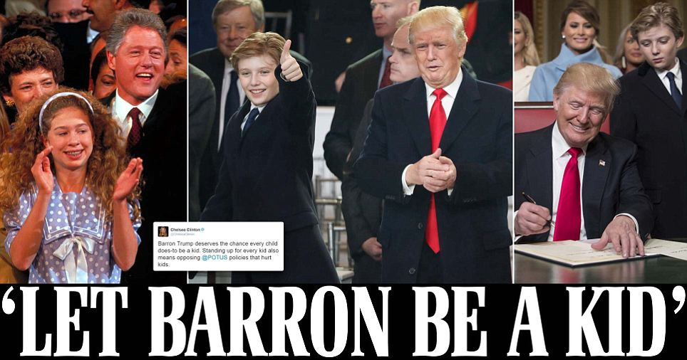Chelsea Clinton defends Barron Trump in Facebook post